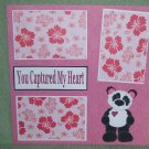 """You Captured My Heart""-Premade Scrapbook Page 12x12"