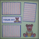 """Your My Honey""-Premade Scrapbook Page 12x12"