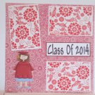 """Class of 2014 girl""-Premade Scrapbook Page 12x12"