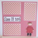 """Class of 2015 boy""-Premade Scrapbook Page 12x12"