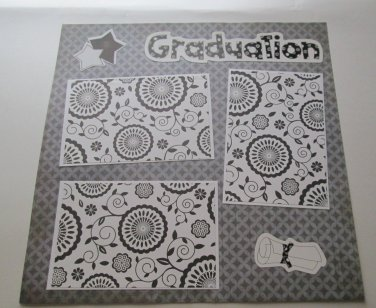 """Graduation""-Premade Scrapbook Page 12x12"