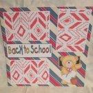 """Back To School Boy 1z""-Premade Scrapbook Page 12x12"