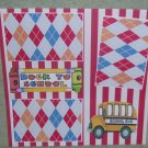 """""""Back To School Bus""""-Premade Scrapbook Page 12x12"""