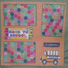 """Back To School Bus Classmates""-Premade Scrapbook Page 12x12"