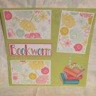 """Bookworm""-Premade Scrapbook Page 12x12"