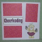 """Cheerleading cs""-Premade Scrapbook Page 12x12"