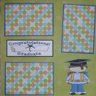 """Congratulations Graduate Boy""-Premade Scrapbook Page 12x12"