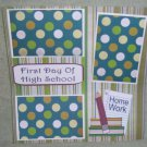 """First Day of High School""-Premade Scrapbook Page 12x12"