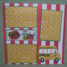 """""""First Day of School Bus nw""""-Premade Scrapbook Page 12x12"""