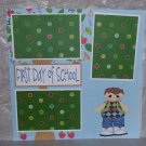 """First Day of School tb Boy""-Premade Scrapbook Page 12x12"