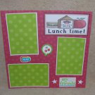 """Lunchtime t""-Premade Scrapbook Page 12x12"