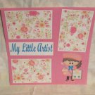 """My Little Artist Girl kw""-Premade Scrapbook Page 12x12"