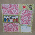 """Playtime t""-Premade Scrapbook Page 12x12"
