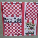 """Prom Date 2""-Premade Scrapbook Page 12x12"