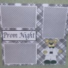 """Prom Night Boy""-Premade Scrapbook Page 12x12"
