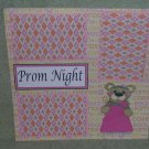 """Prom Night Girl""-Premade Scrapbook Page 12x12"