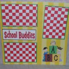 """School Buddies""-Premade Scrapbook Page 12x12"