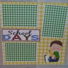 """School Days Boy 1""-Premade Scrapbook Page 12x12"