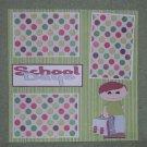 """School Days Boy tc""-Premade Scrapbook Page 12x12"
