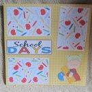 """School Days Girl 1""-Premade Scrapbook Page 12x12"
