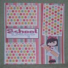 """School Days Girl tc""-Premade Scrapbook Page 12x12"