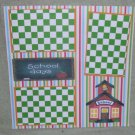 """School Days House""-Premade Scrapbook Page 12x12"
