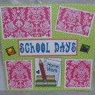 """School Days z""-Premade Scrapbook Page 12x12"