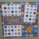 """School News""-Premade Scrapbook Page 12x12"