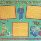 """School Rules Boy 8c""-Premade Scrapbook Page 12x12"