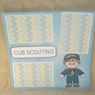 """Cub Scouting""-Premade Scrapbook Page 12x12"