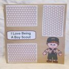 """I Love Being A Boy Scout""-Premade Scrapbook Page 12x12"