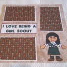 """I Love Being A Girl Scout 2""-Premade Scrapbook Page 12x12"