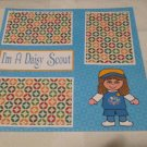 """I'm A Daisy Scout""-Premade Scrapbook Page 12x12"