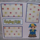 """Scouting Fun""-Premade Scrapbook Page 12x12"