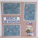 """Bench Warmer Boy""-Premade Scrapbook Page 12x12"