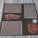 """Champ Baseball""-Premade Scrapbook Page 12x12"