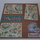 """""""Football a""""-Premade Scrapbook Page 12x12"""