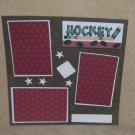 """Hockey t""-Premade Scrapbook Page 12x12"