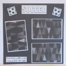 """Soccer a""-Premade Scrapbook Page 12x12"