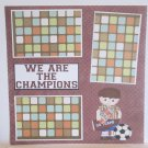 """We Are The Champions Boy""-Premade Scrapbook Page 12x12"