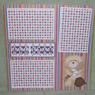"""All Star Baseball Bear""-Premade Scrapbook Page 12x12"
