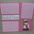 """Baseball Fever a""-Premade Scrapbook Page 12x12"