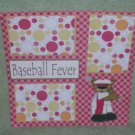 """Baseball Fever""-Premade Scrapbook Page 12x12"