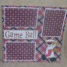 """Game Ball 2""-Premade Scrapbook Page 12x12"