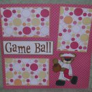 """Game Ball""-Premade Scrapbook Page 12x12"