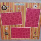 """Game Room st""-Premade Scrapbook Page 12x12"