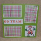 """Go Team Football bl""-Premade Scrapbook Page 12x12"
