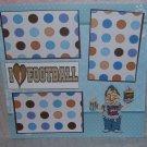 """I Love Football Superbowl""-Premade Scrapbook Page 12x12"