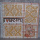 """I Love Sports Basketball 1""-Premade Scrapbook Page 12x12"