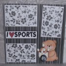 """I Love Sports Bowling""-Premade Scrapbook Page 12x12"
